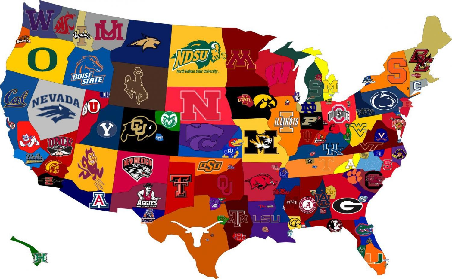 A Map of The Hardest Colleges to Get Into in Each State