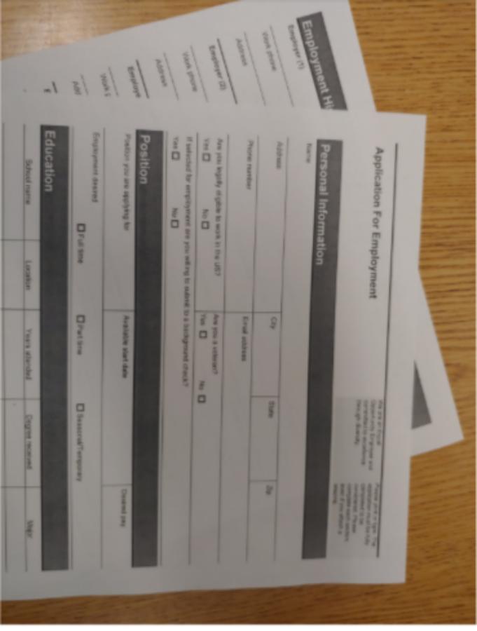 Job+application+form