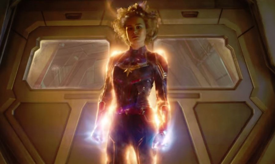 Captain Marvel glows in her full glory after finally discovering her true power.