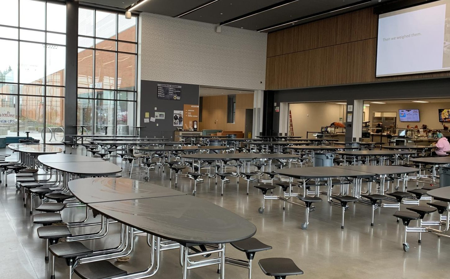 The cafeteria in which Homecoming was held. Adonis Bogetz