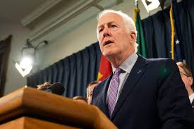 Texan Senator John Cornyn (R) introducing the RESPONSE bill on Oct. 23, 2019