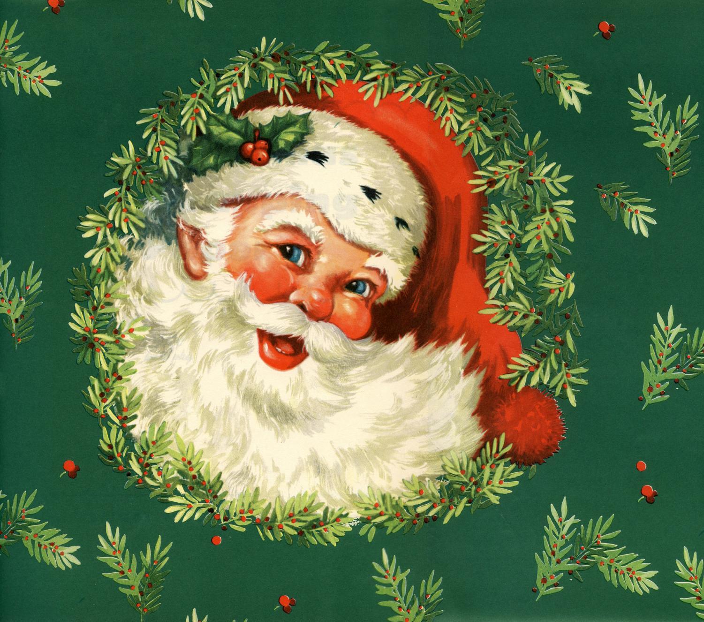 Vintage Santa Clip-art, Happy Holidays