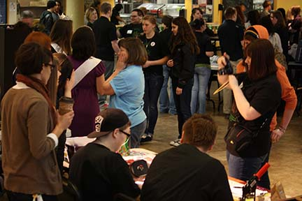 Visiting Information Tables at the Youth Rally - From Kitsap County Youth Rally's Website