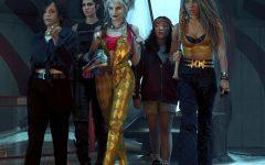 The Birds of Prey core cast from left to right; Renee Montoya (Rosie Perez), Huntress (Mary Elizabeth Winstead), Harley Quinn (Margot Robbie), Ella Jay Basco (Cassandra Cain), & Black Canary (Jurnee Smollett-Bell)