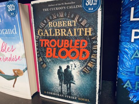 Troubled Blood by J.K. Rowling published under the pseudonym Robert Galbraith.
