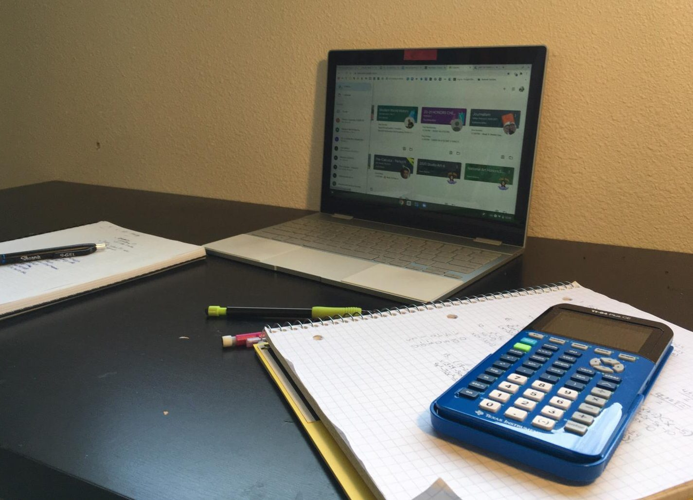 Students create workspaces for school within their own homes while participating in online learning; these workspaces are centered around their computers.  Because of this focus on technology, problems with connectivity and access to electronics is a prominent problem for Washington State students.