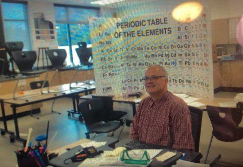 Mr. Birkenfeld in his classroom at CKHS.